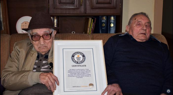 Curiosidade: irmãos mais velhos do mundo são portugueses