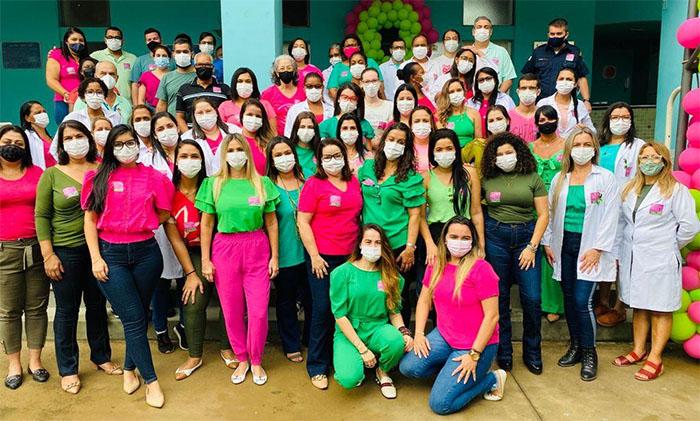 Prefeitura de Itaperuna realiza através da Secretaria Municipal de Saúde, via equipe do Centro de Saúde Dr. Raul Travassos, a Campanha 'Outubro Rosa e Verde'
