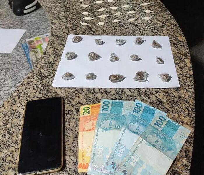 Noroeste: Jovem de 19 anos é preso com drogas no Centro de Itaocara